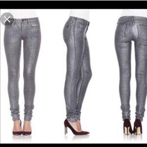 Joe's Jeans The Skinny in Silver Glitter